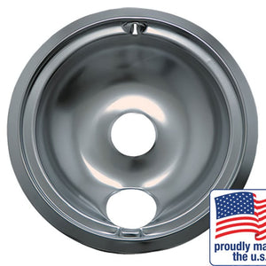 "Drip Bowl Chrome Large / 8"", Sgl Pk - 120A"