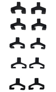 Socket Replacement Clips - Black, 10 Piece