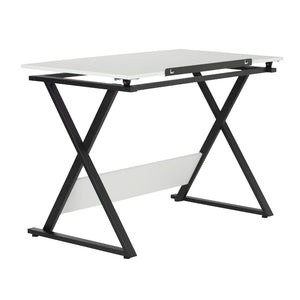 Studio Designs Modern Axiom Artists Drawing Table - Charcoal and White