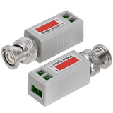 CMPLE Video Balun Bnc Male CCTV Coaxial Camera Adapter 1 Channel - 2 Pair