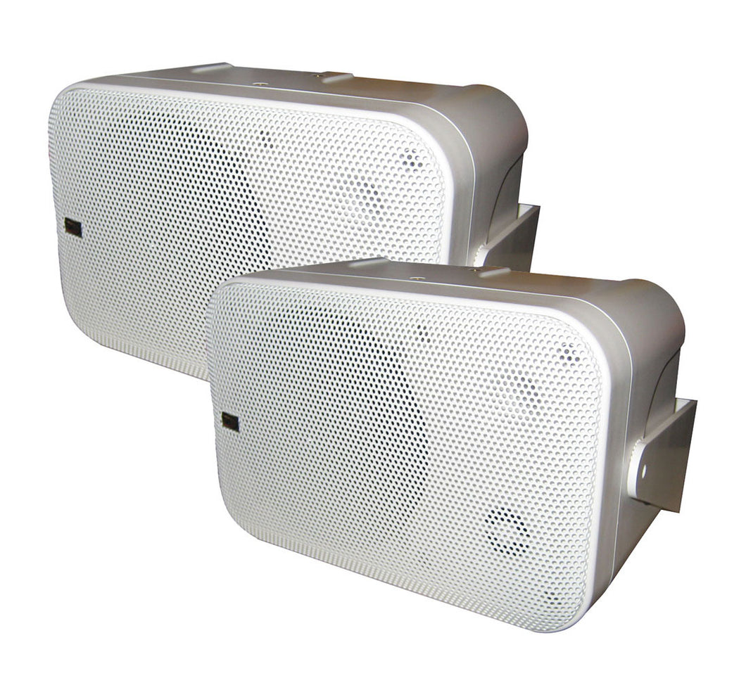 PolyPlanar Box Speakers -(Pair) White