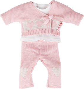 Baby Doll Clothing Knitted Outfit Pink 3 Piece 12-13""