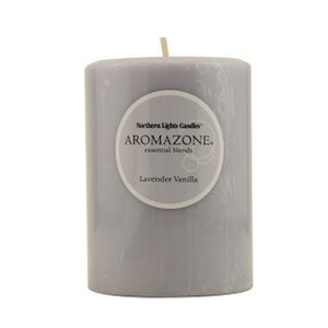 Lavender & Vanilla Essential Fragrance Blend 3X4 Inch Pillar Candle