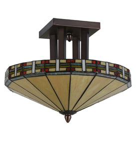 "Meyda Tiffany 144759 Lighting, 16"" W, Finish: Mahogany Bronze"