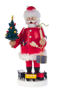 "Alexander Taron 146-252 Dregeno Incense Burner - Santa Tree and Train - 8.75"" H x 4.5"" W x 6"" D, Red"