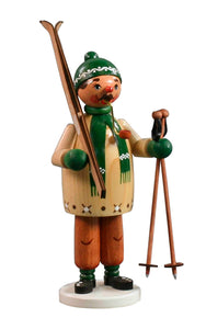 "Alexandor Taron Home Decor Dregeno Skier Green Incense Burner 8""H x 3.5\""W x 3.5\""D"