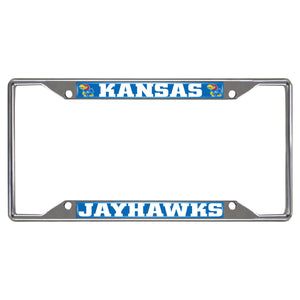 FANMATS NCAA University of Kansas Jayhawks Chrome License Plate Frame