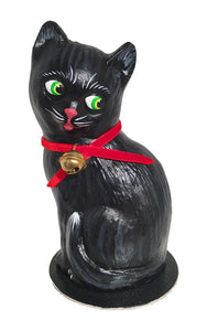 Alexander Taron Decorative Collectibles Schaller Paper Mache Candy Container - Black Cat