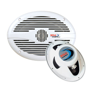 BOSS Audio Systems MR690 350 Watt Per Pair, 6 x 9 Inch, Full Range, 2 Way Weatherproof Marine Speakers Sold in Pairs