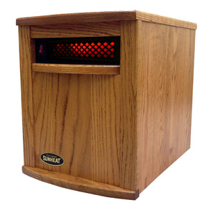 Sunheat Amish Nebraska Oak Electric Portable Infrared Heater