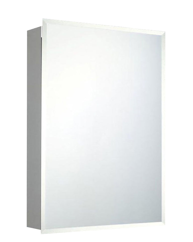 Builders Grade Series Surface Mounted Standard Medicine Cabinet Beveled Edge Mirror 16x22
