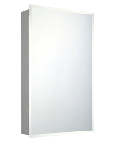 Builders Grade Series Surface Mounted Standard Medicine Cabinet Beveled Edge Mirror 16x26