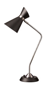 1-Light  Table Lamp With Black Shade
