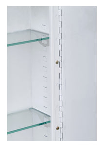 "Single Door Medicine Cabinet - Recessed Mounted - Beveled Edge Mirror - 12""W x 36""H"