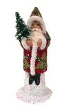 Alexander Taron Decorative Collectibles Schaller Paper Mache Candy Container - Santa Red and Green