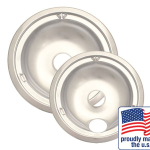 RANGE KLEEN 179802XCD5 Range kleen 179802xcd5 two-pack chrome drip pans, style c