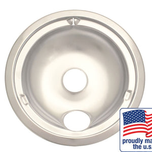 "Drip Bowl Chrome Large / 8"", Sgl Pk - 180A"