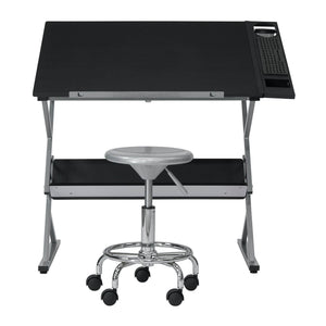 SD Studio Designs Prime 3 Piece Craft Bundle - Drawing Table, Studio Stool and Premier Metal Art Tray