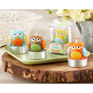 Kate Aspen Home Décor Whooo's the Cutest Baby Owl Candle Set of Four Assorted