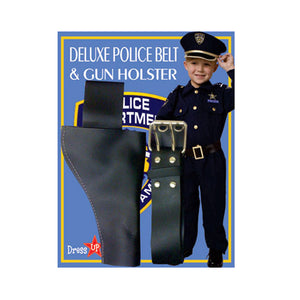 Dress Up America Halloween Party Costume Police Belt And Gun Holster - Adult