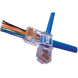 CableWholesale's EZ-RJ45 Cat5e Crimp Plugs, Slide Through Wires, 100 Pieces