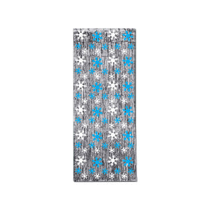 Beistle Party Snowflake 1-Ply FR Gleam 'N Curtain 8' x 3' - 6 Pack (1/Pkg)