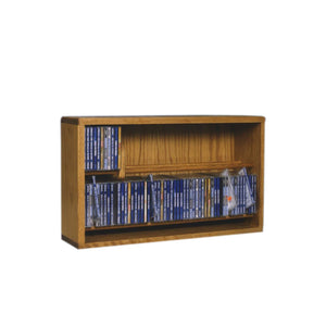Cdracks Media Furniture Solid Oak Dowel Cabinet for CD Capacity 112 CD's Honey Finish 206-24