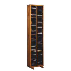Cdracks Media Furniture Solid Oak Tower for CD Capacity 160 CD's Honey Finish 209-4 (Individual Locking Slots)