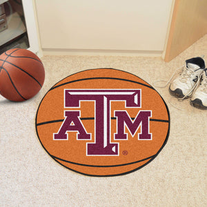 Fanmats Sports Team Logo Design Texas A&M University Basketball Mat
