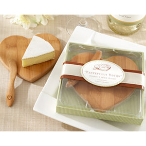 Tastefully Yours Heart-Shaped Bamboo Cheese Board