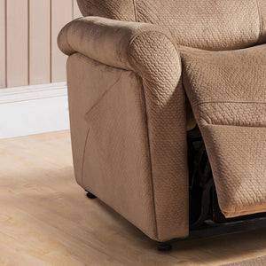 HomeRoots Select Hardwoods, Polyester, Steel Brown Transitional Select Hardwood Power Reclining Lift Chair