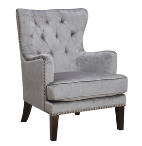 HomeRoots Furniture Contemporary Button Tufted Wingback Living Room Accent Chair