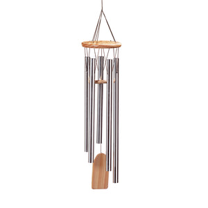 Gifts & Decor Aluminum Natural Pine Resonant Wind Chime