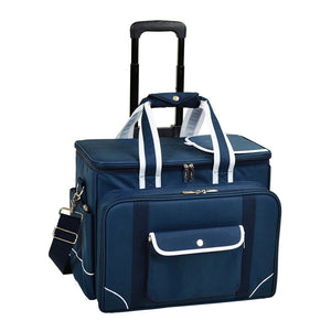 Bold Picnic Cooler For Four On Wheels - Blue