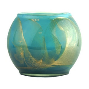Turquoise Polish 4 Inch Scented Candle Globe Burns 50 Hrs