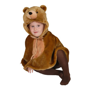 Dress Up America Halloween Cuddly Little Brown Bear Cape Costume Set - 12-24 Mo.