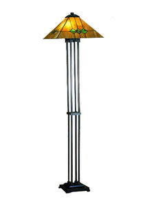 "Meyda Home Indoor Bedroom Decorative Lighting 63""H Martini Mission Floor Lamp"
