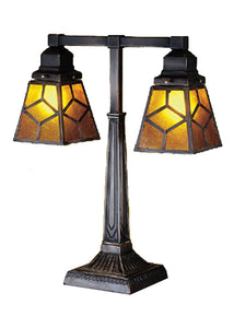 Southwest Mica Diamond Mission Table Lamp