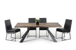 HomeRoots Wood, Metal Modern Ship Wood Dining Table