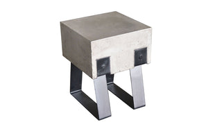 HomeRoots Concrete, Metal Modern Concrete & Black Stool