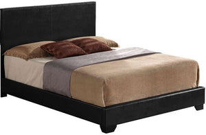 "Black Pu Panel King Bed - 86"" x 79"" x 47"""