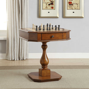 HomeRoots Furniture Game Table in Cherry Multicolor