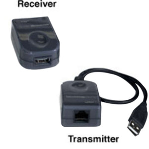 USB 1.1 Over Cat5 Superbooster Extender Dongle Kit - Black