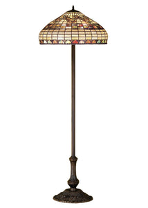 "Meyda Home Indoor Bedroom Decorative Lighting 63""H Tiffany Edwardian Floor Lamp"