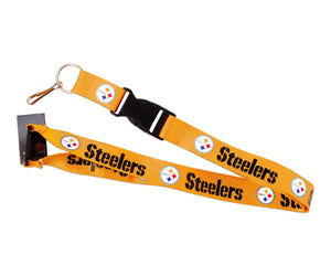 aminco Pittsburgh Steelers Gold Clip Lanyard Keychain Id Ticket - Gold