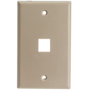 Keystone Wall Plate, Beige, 1 Hole, Single Gang
