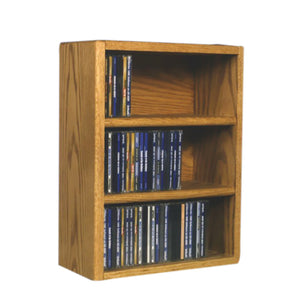 Cdracks Media Furniture Solid Oak Desktop or Shelf CD Cabinet Capacity 78 CD's Honey Finish