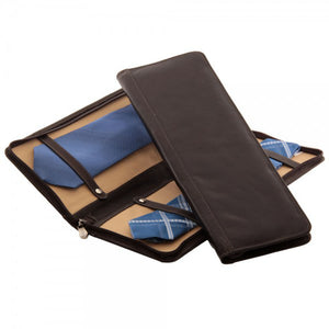 Zippered Tie Case With Snaps