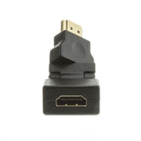 CableWholesale HDMI High Speed Swivel Adapter, HDMI Type-A Male to HDMI Type-A Female, Rotates 360 Degrees, Tilts 180 Degrees, 4K 60Hz, Black