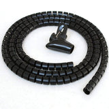 5ft Split Loom Cable Wrap, Black, 25mm Diameter, Cable Management Wraps with Tool
